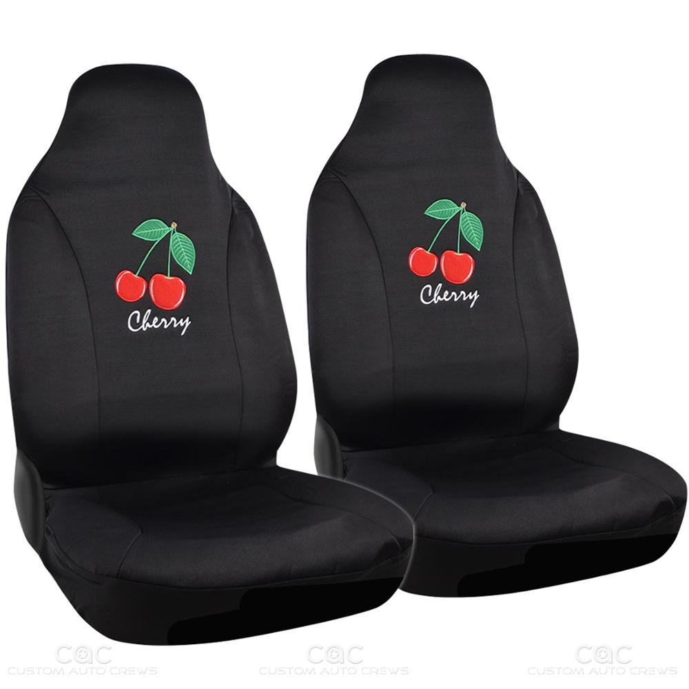 Red Cherry Cool Design Car Seat Cover Full Rear Bench And