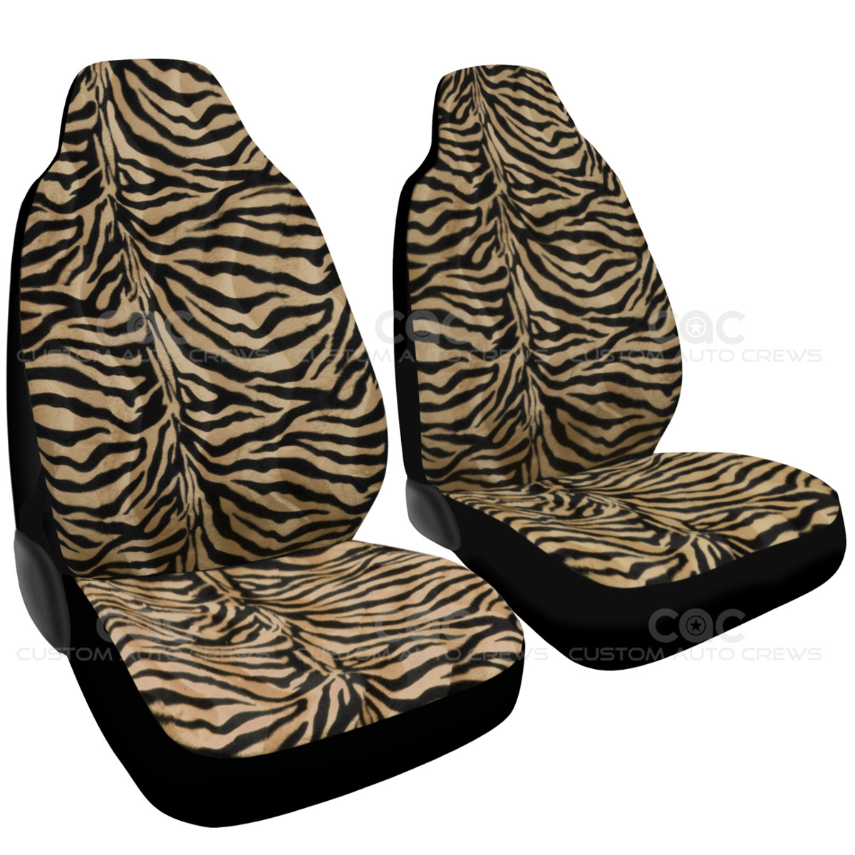 Fur Zebra Print Car Seat Covers