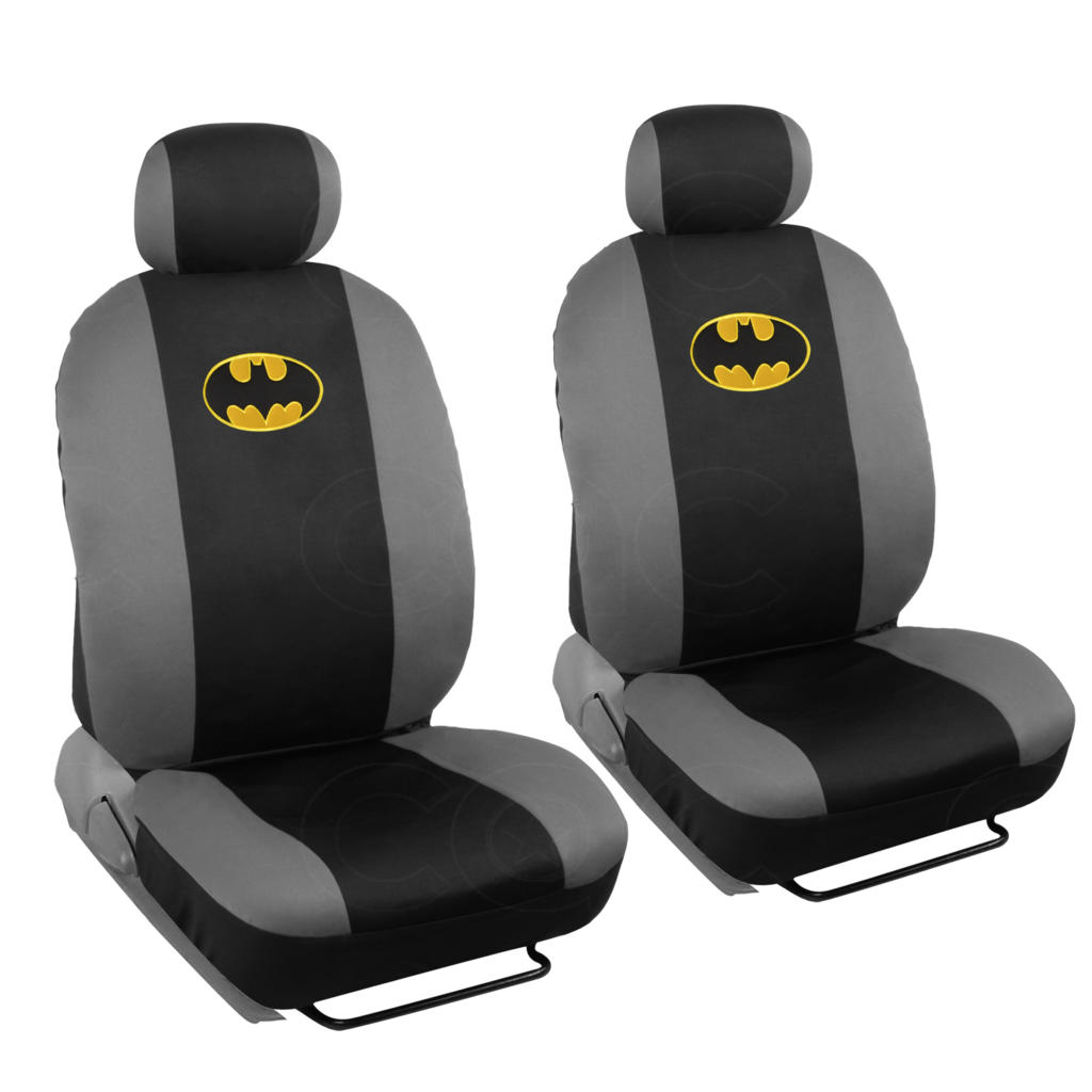 Licensed Warner Bros Batman 4 Piece Low Back Seat Covers Auto ...