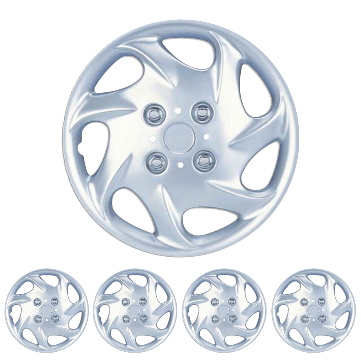 Hubcaps 15 034 wheel cover hubcap silver oem replacement new cover set of 4 ebay