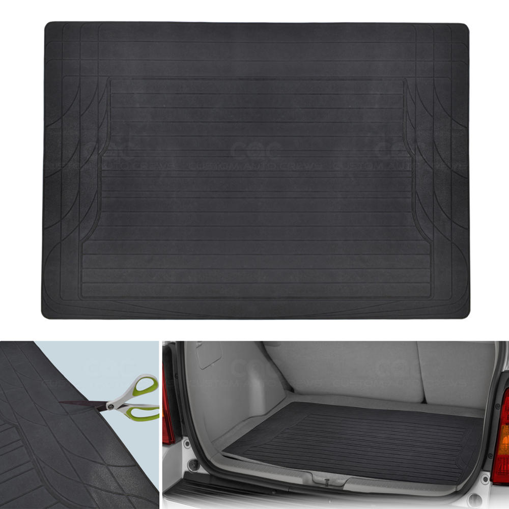 5pc interior floor mats set front rear light grey carpet w rubber trunk. Black Bedroom Furniture Sets. Home Design Ideas
