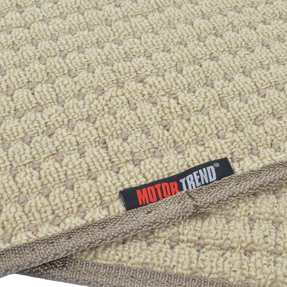 Plush beige berber carpet floor mats 4pc car interior for Best berber carpet brands
