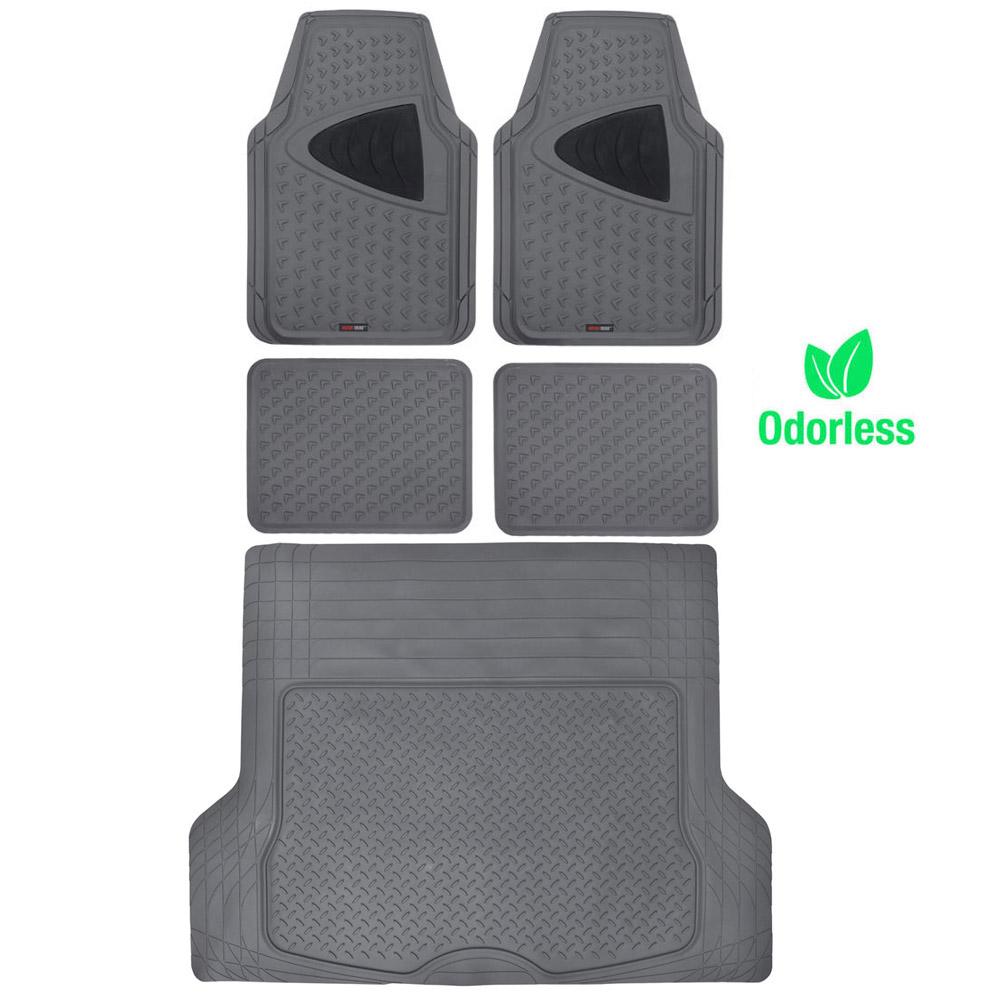 Motor trend rubber floor mats w trunk liner odorless auto for Motor trend floor mats review