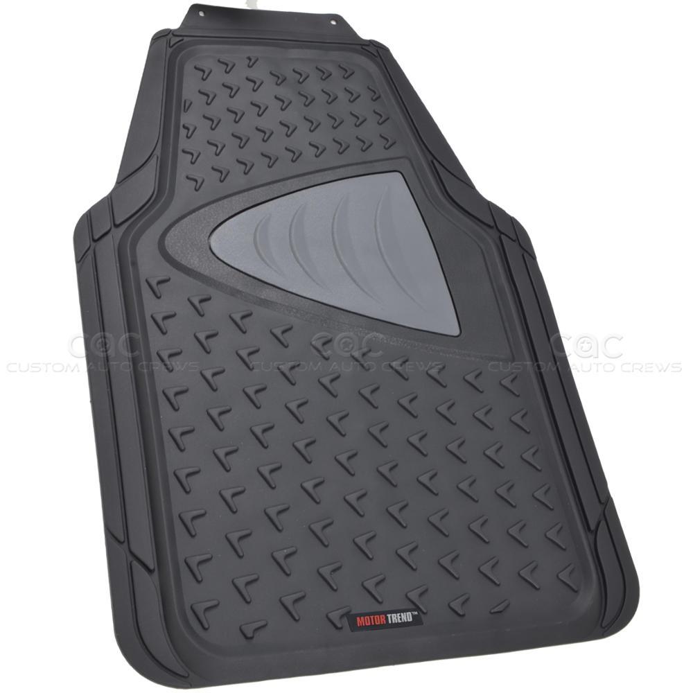 Odorless rubber floor mats motor trend 5 pc w cargo trunk for Motor trend floor mats review