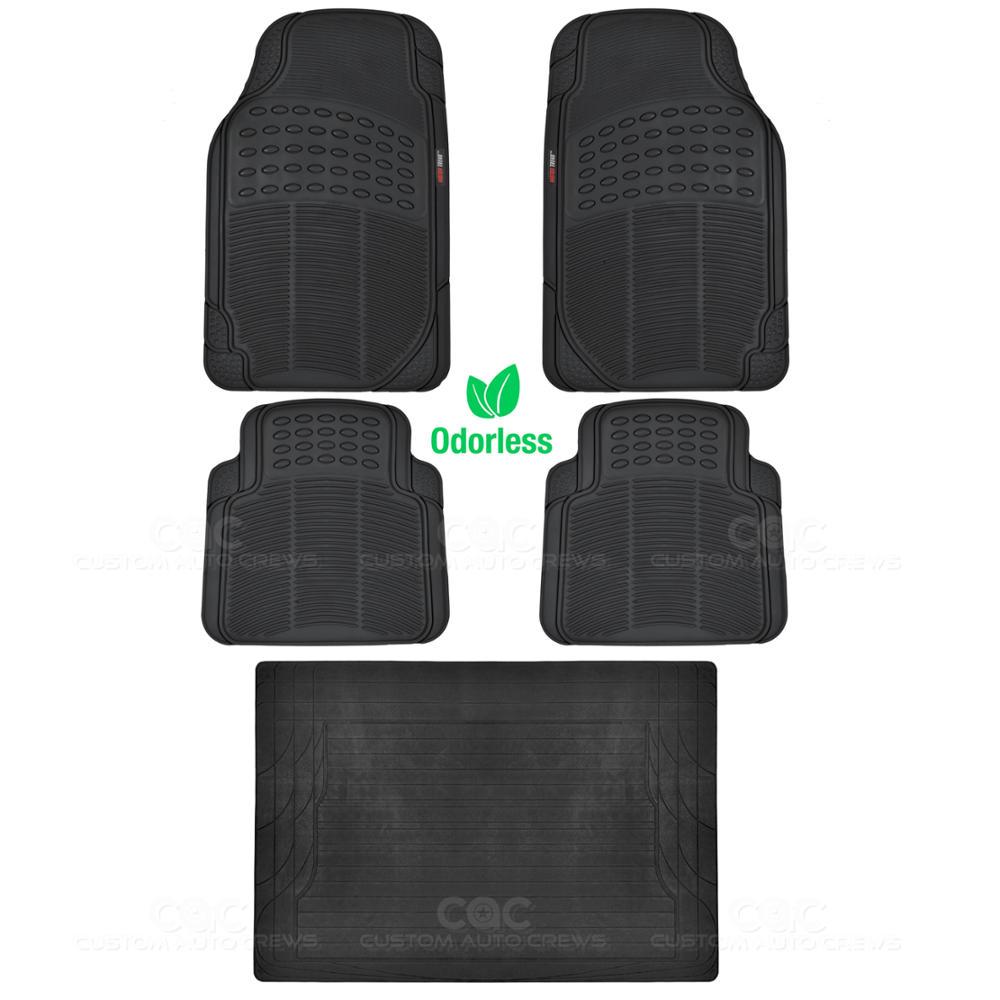 Motor trend eco tech car floor mats w cargo liner black 5 for Motor trend floor mats review