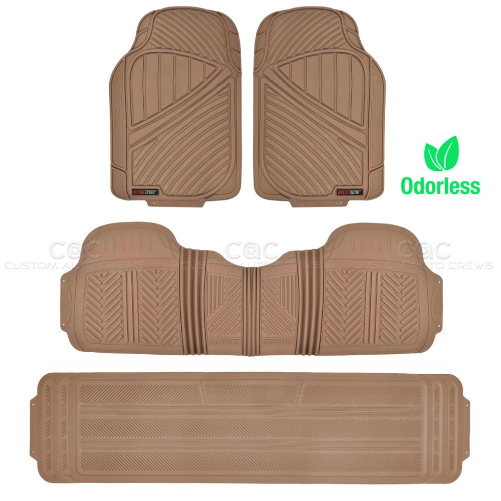 Rubber floor mats suv - Image Is Loading Beige 4pc Rubber Floor Mat Car Suv Heavy