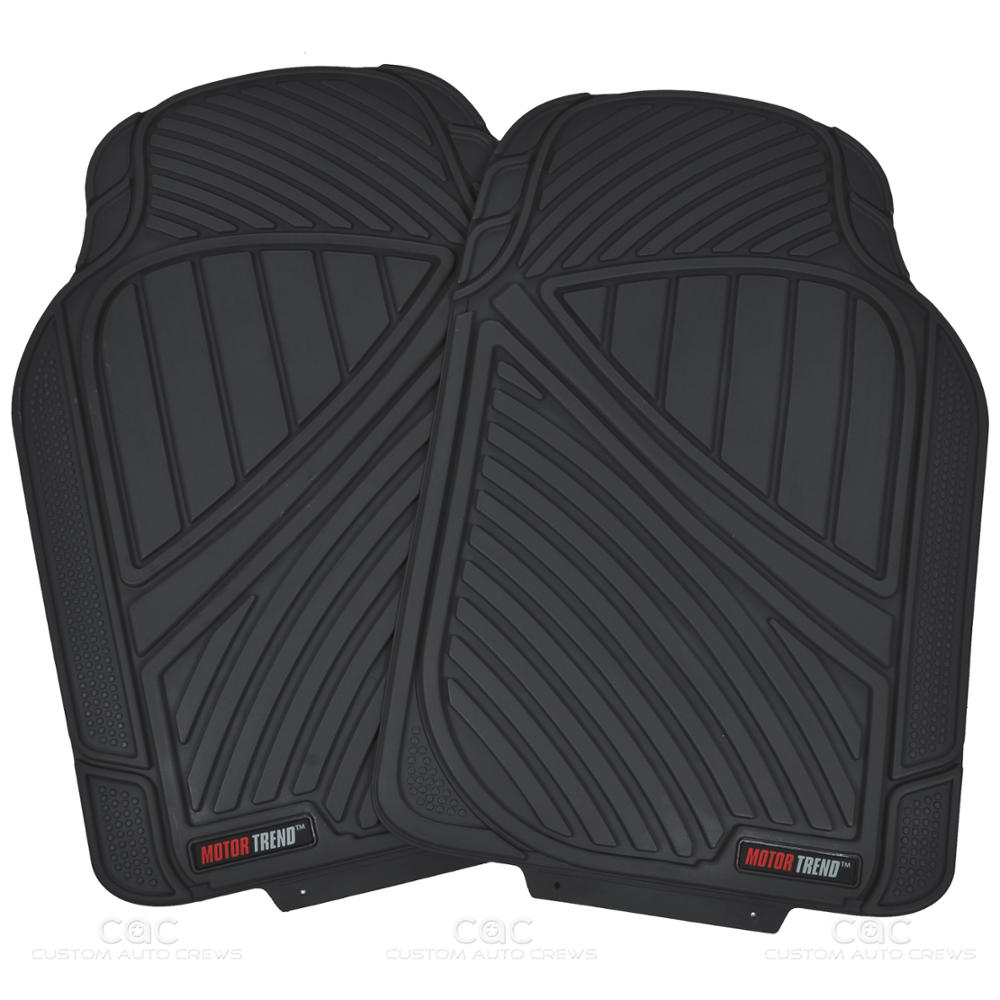 Vehicle Floor Mats : Flextough rubber car floor mats cargo set black heavy
