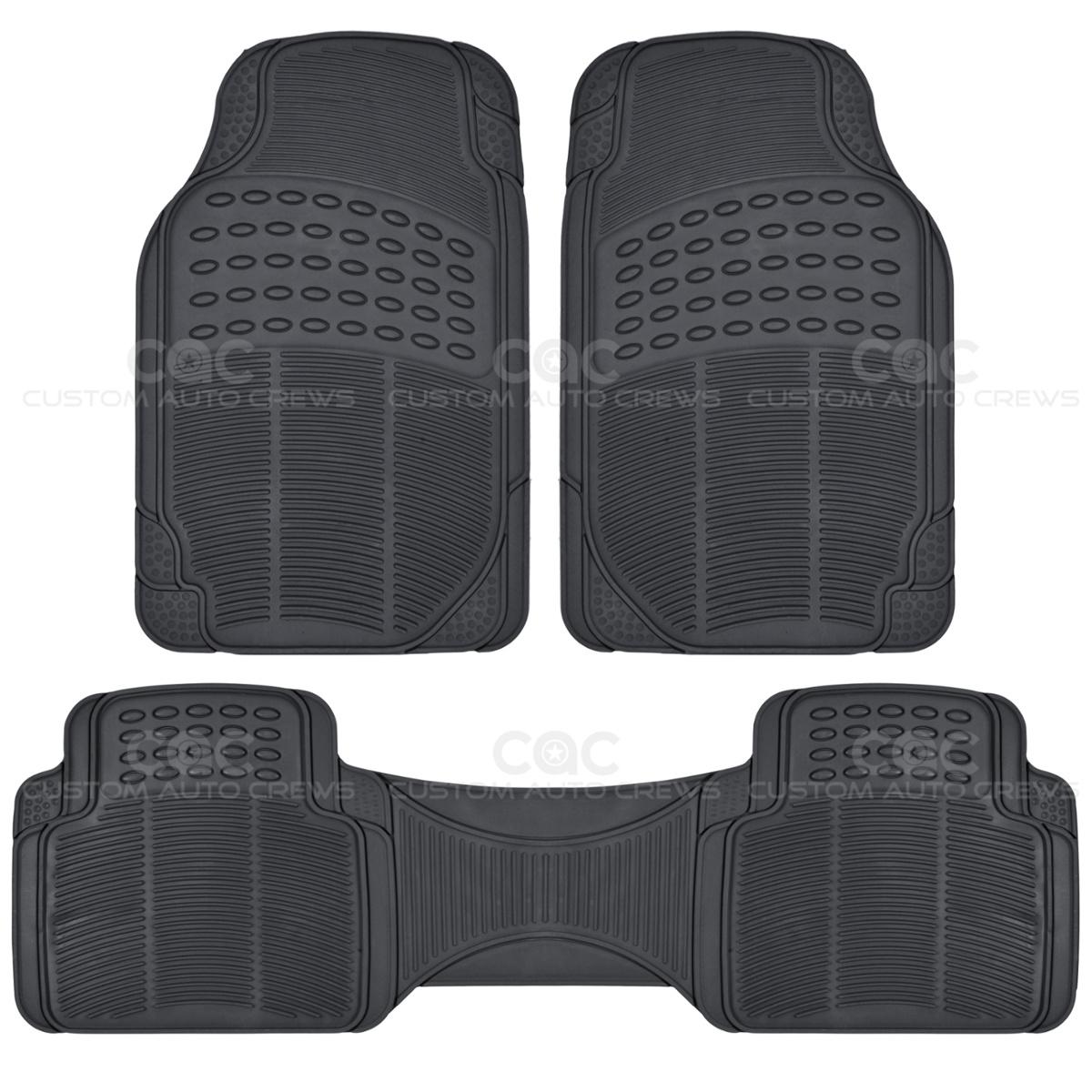 Rubber floor mats for lincoln mkx - Black All Weather Rubber Floor Mats Liner Set Interior Durable Bdk