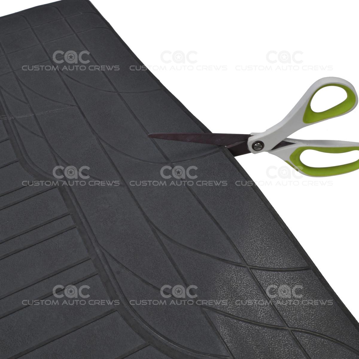 Rubber floor mats suv - Black 4pc Rubber Floor Mat Car Suv Heavy