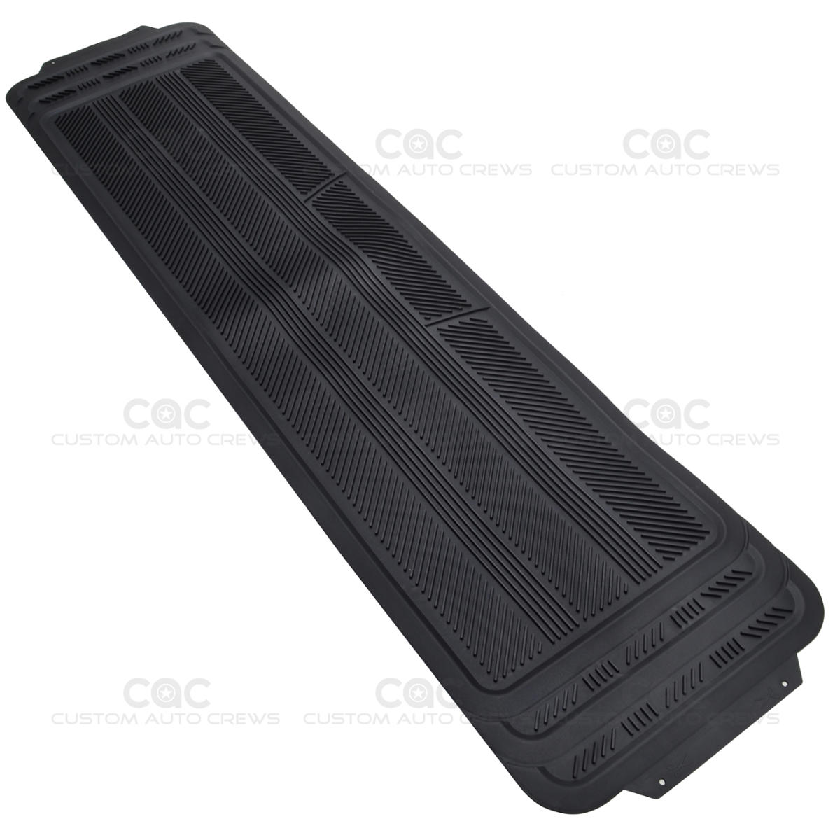 Black rear rubber runner floor mat utility one piece hd for 1 piece floor mats