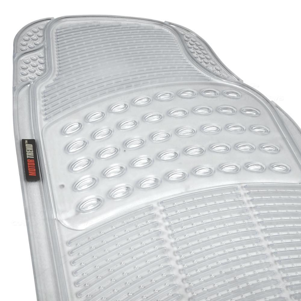 Motor Trend Zero-Odor All Weather Car Rubber Floor Mats - Clear Semi Custom Fit | eBay
