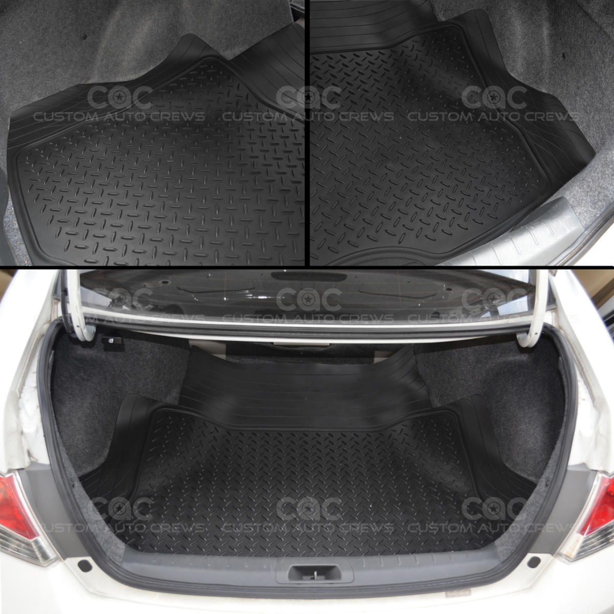 Rubber floor mats nissan rogue - Motor Trend Deep Dish Rubber Floor Mats Amp Cargo Set Black Premium 4 Piece Ebay