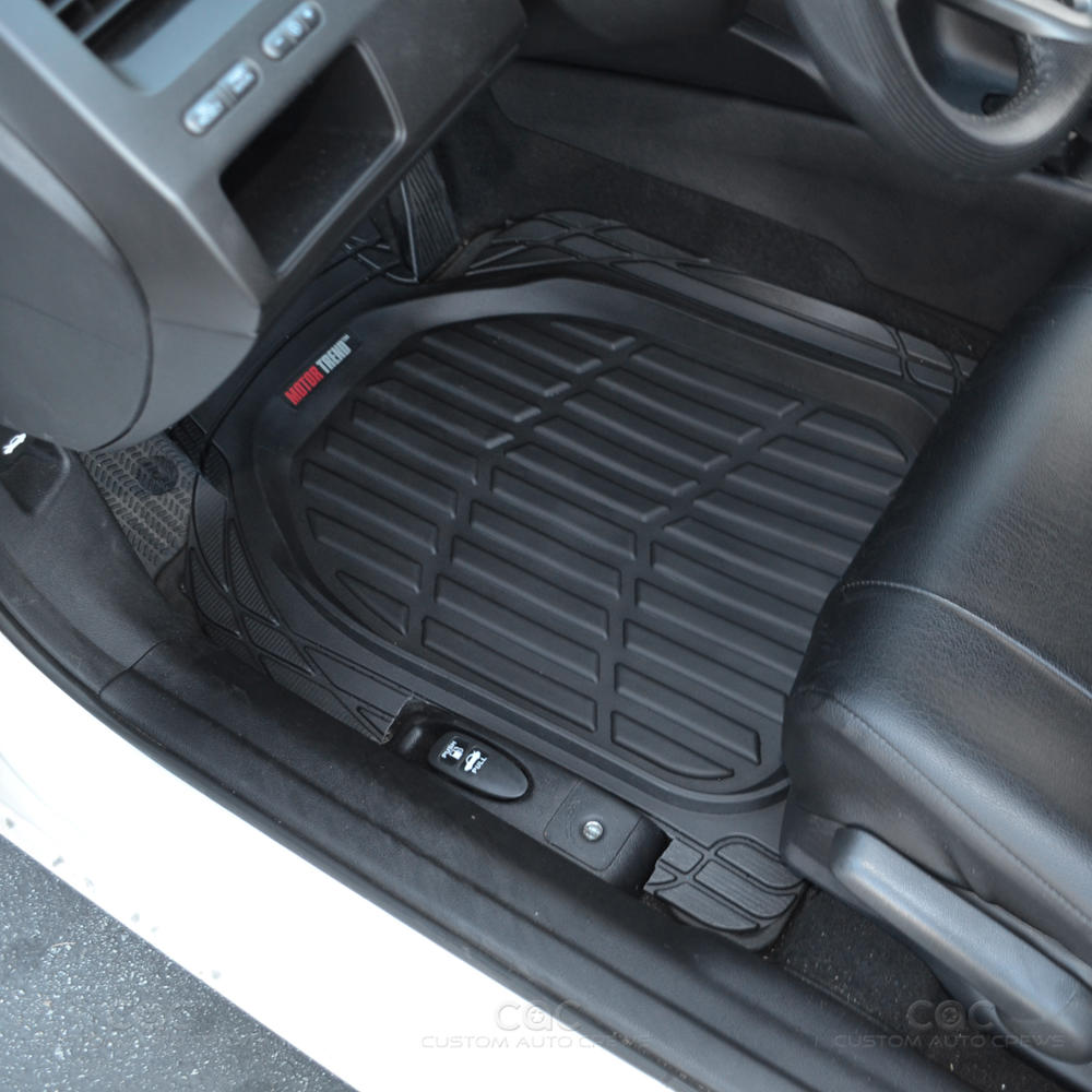 Rubber floor mats nissan rogue - Motor Trend Deep Dish Rubber Floor Mats Cargo Set Black Premium 4 Piece