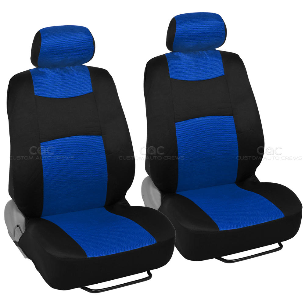 4 pc deep dish rubber mats 9 pc sporty spacer mesh blue cloth car seat covers ebay. Black Bedroom Furniture Sets. Home Design Ideas