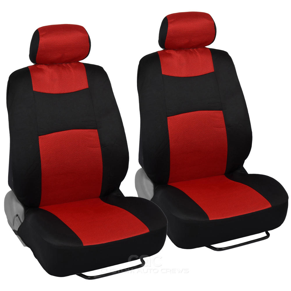 Red Car Seat Covers Floor Mats Set