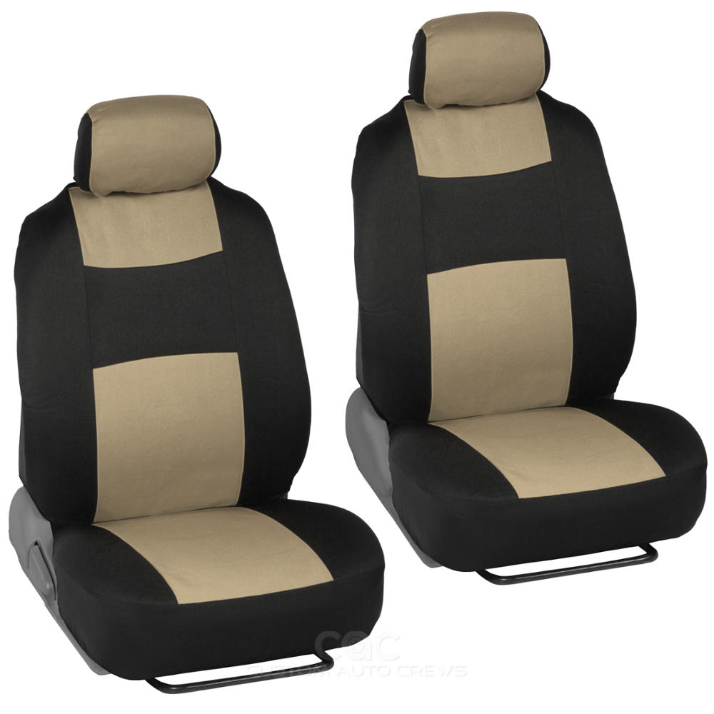13pc set interior protection car seat covers set beige heavy duty rubber mats ebay. Black Bedroom Furniture Sets. Home Design Ideas