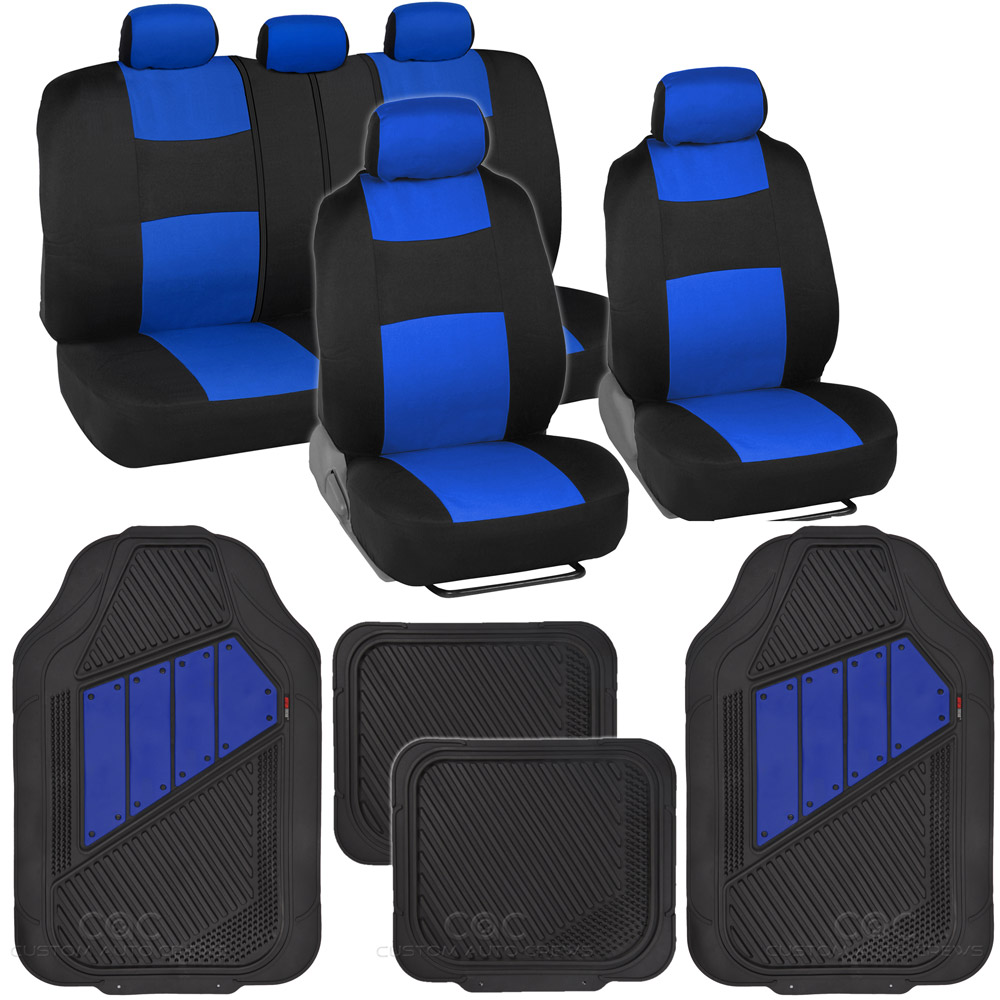 13pc Set Interior Protection Car Seat Covers Set Blue