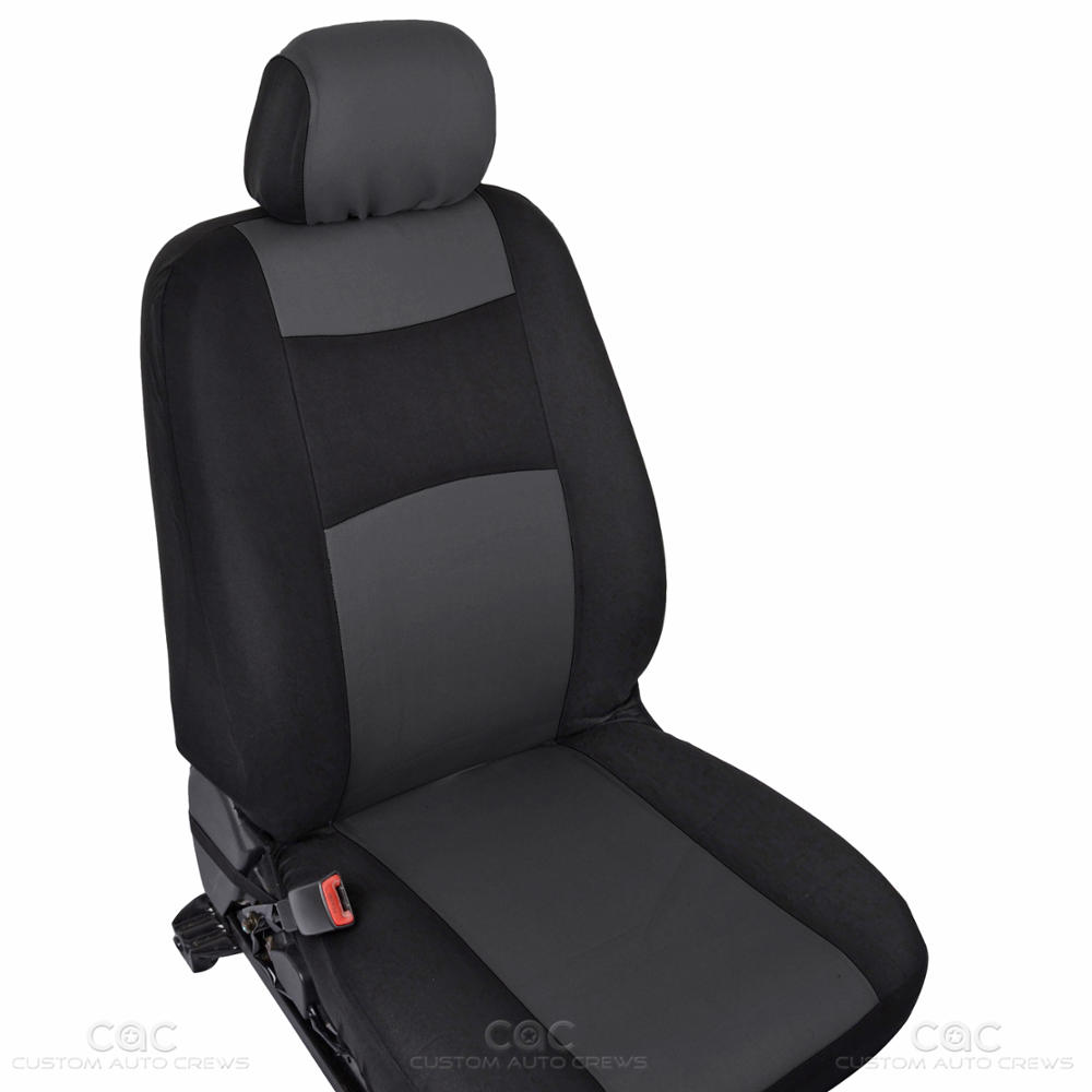 Charcoal Car Seat Covers Set Full Solid Bench For Auto SUV