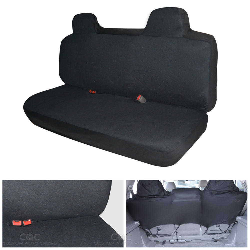 Black Amp Charcoal Seat Cover For Car Auto SUV Polyester