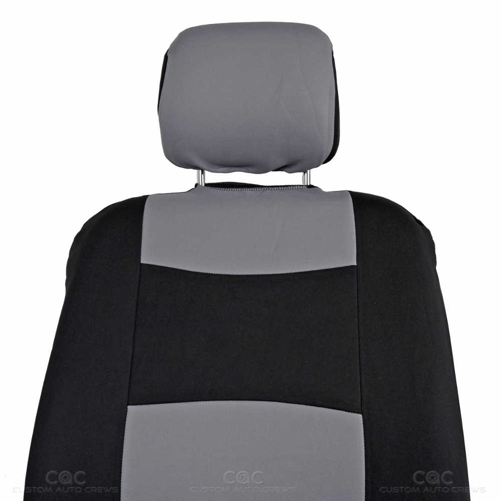 Black Amp Gray Seat Covers For Car Auto SUV Polyester Cloth