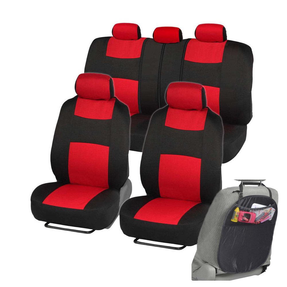 Car Seat Covers Fit For Sedan SUV Red Low Back Seat W