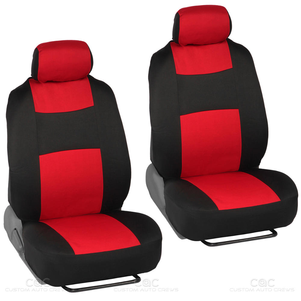 14pc car seat covers set full bench black red w pu leather carpet floor mat ebay. Black Bedroom Furniture Sets. Home Design Ideas