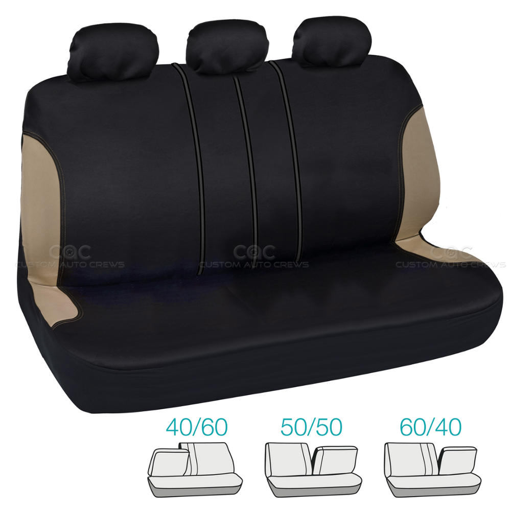 Bucatti Tan Beige Set Car Seat Covers And Solid Black