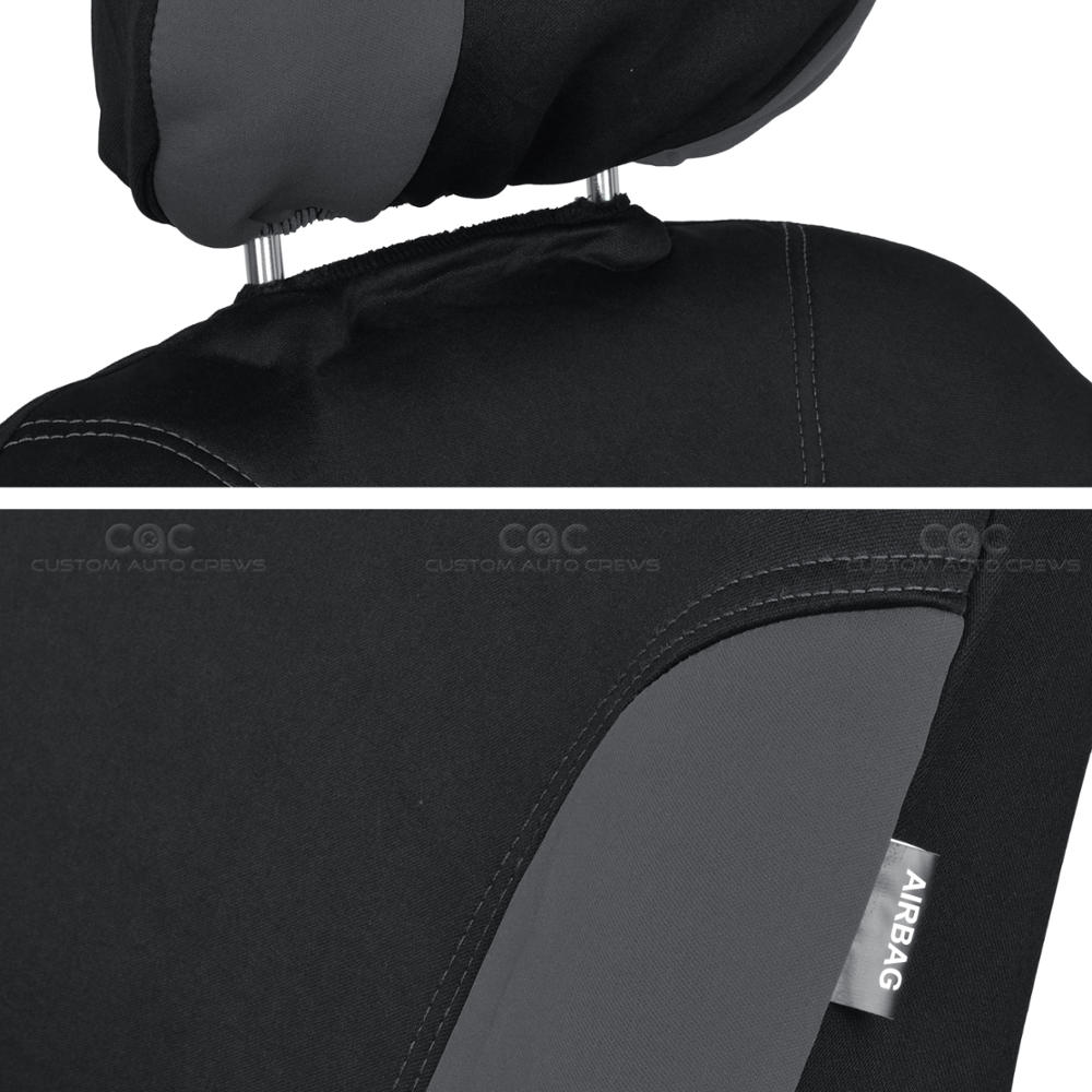 Bucatti Charcoal Set Car Seat Covers And Solid Black Hefty