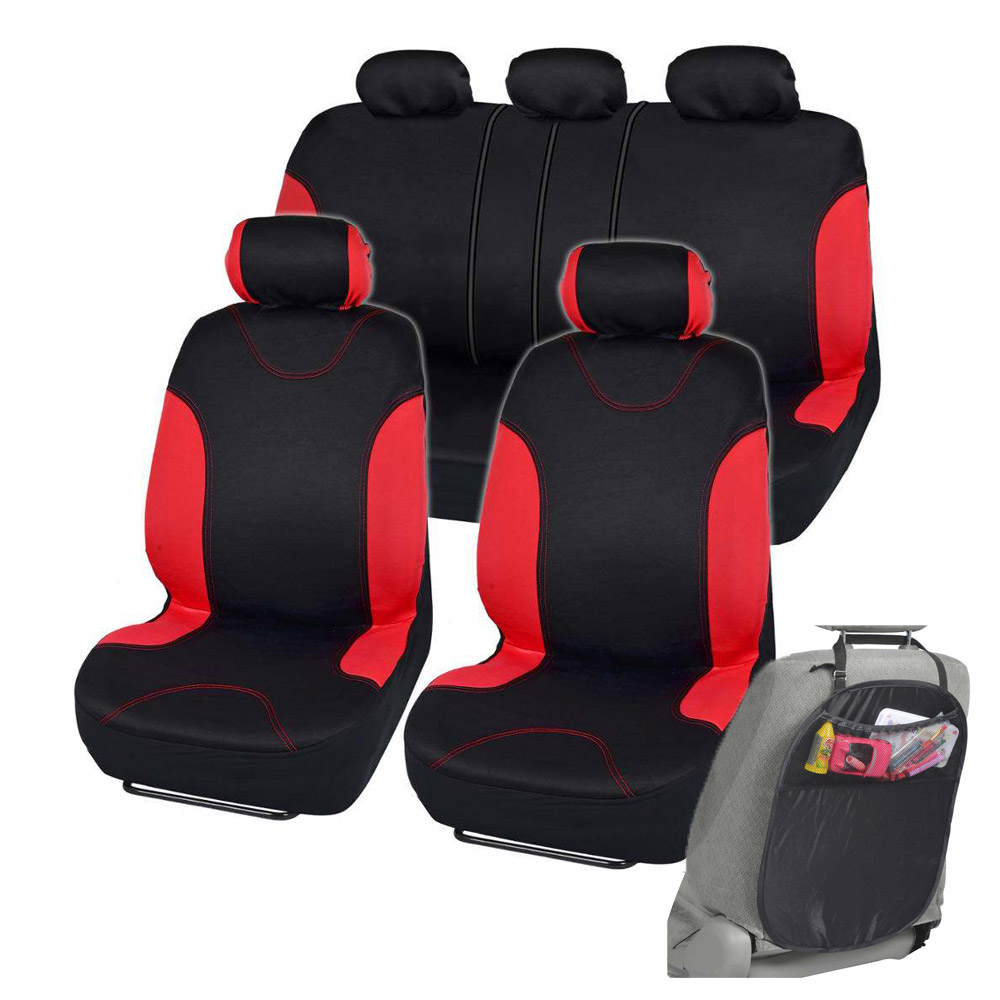 Car Seat Covers Fit For Sedan SUV Red Premium Rome Seat W