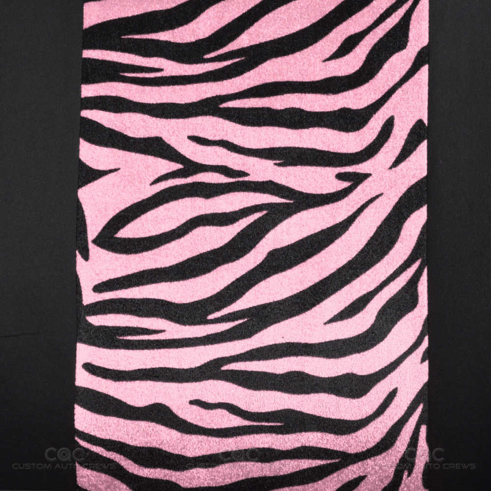 Zebra Car Seat Covers Pink Black 12pc Set W Steering Wheel