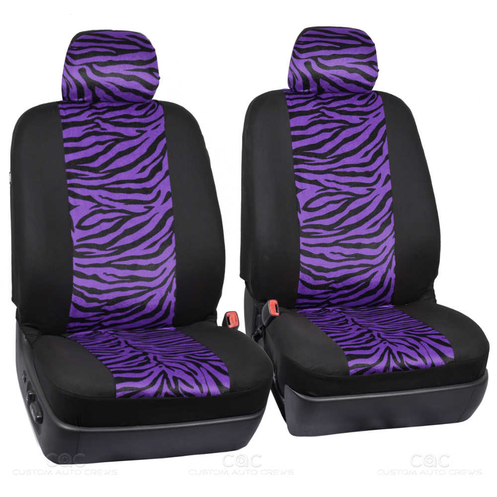 Purple Zebra Two Tone Car Seat Covers For Auto Complete