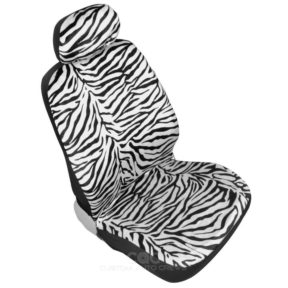 zebra print car seat covers white and black stripes full interior animal ebay. Black Bedroom Furniture Sets. Home Design Ideas