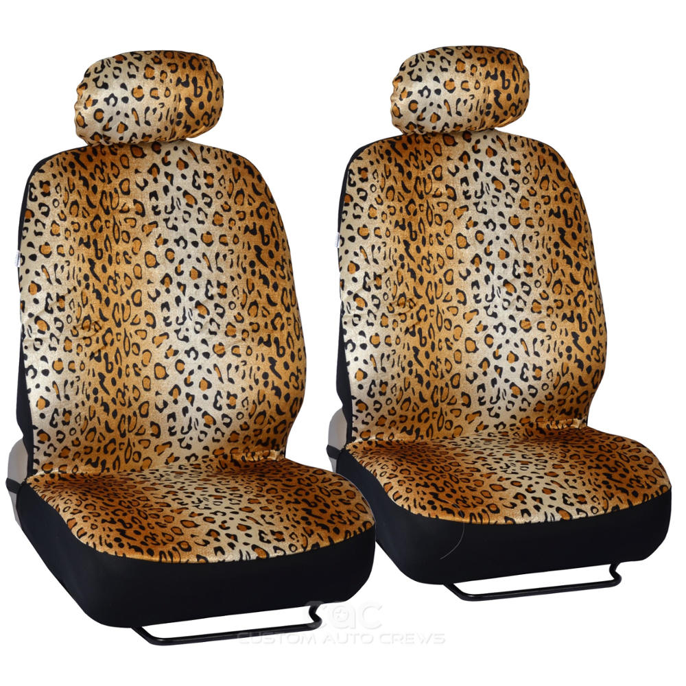 Animal Print Auto 9 Piece Front Amp Rear Seat Cover Leopard