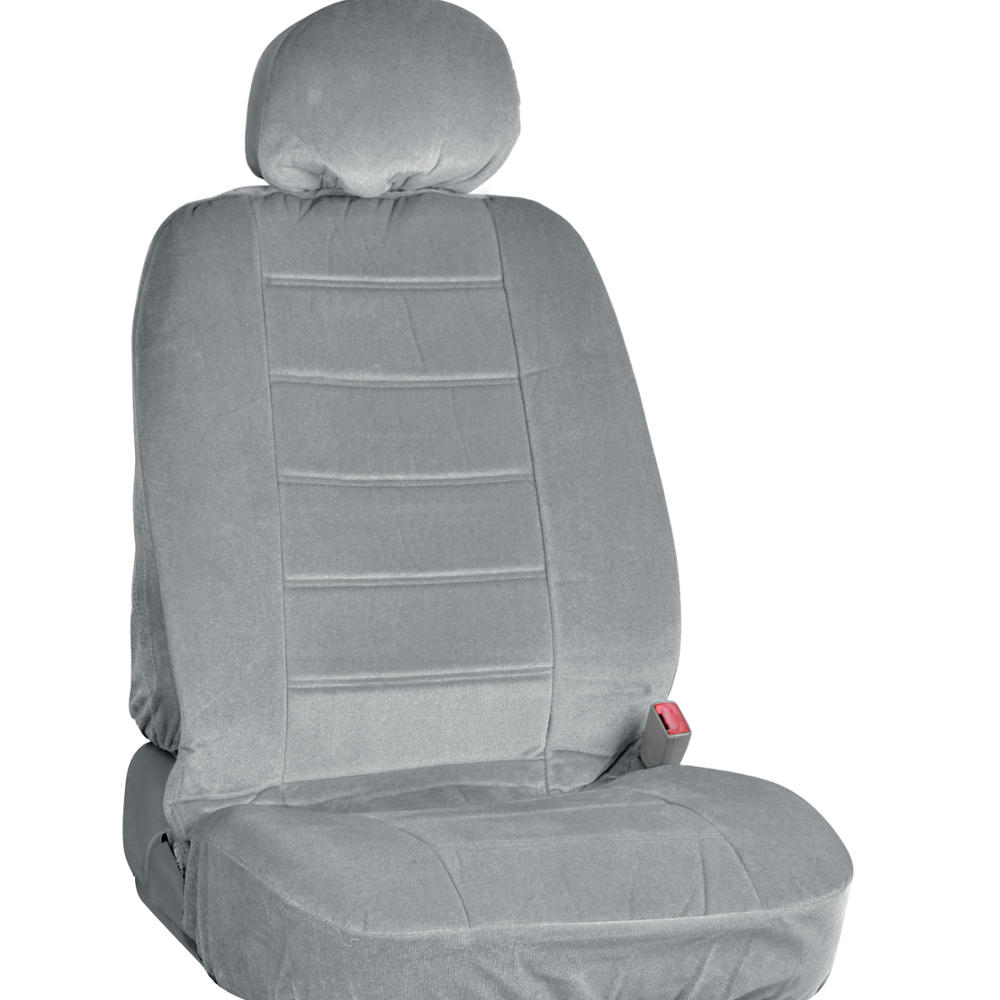 Gray Full Cloth Encore Style Premium Car Seat Covers Low