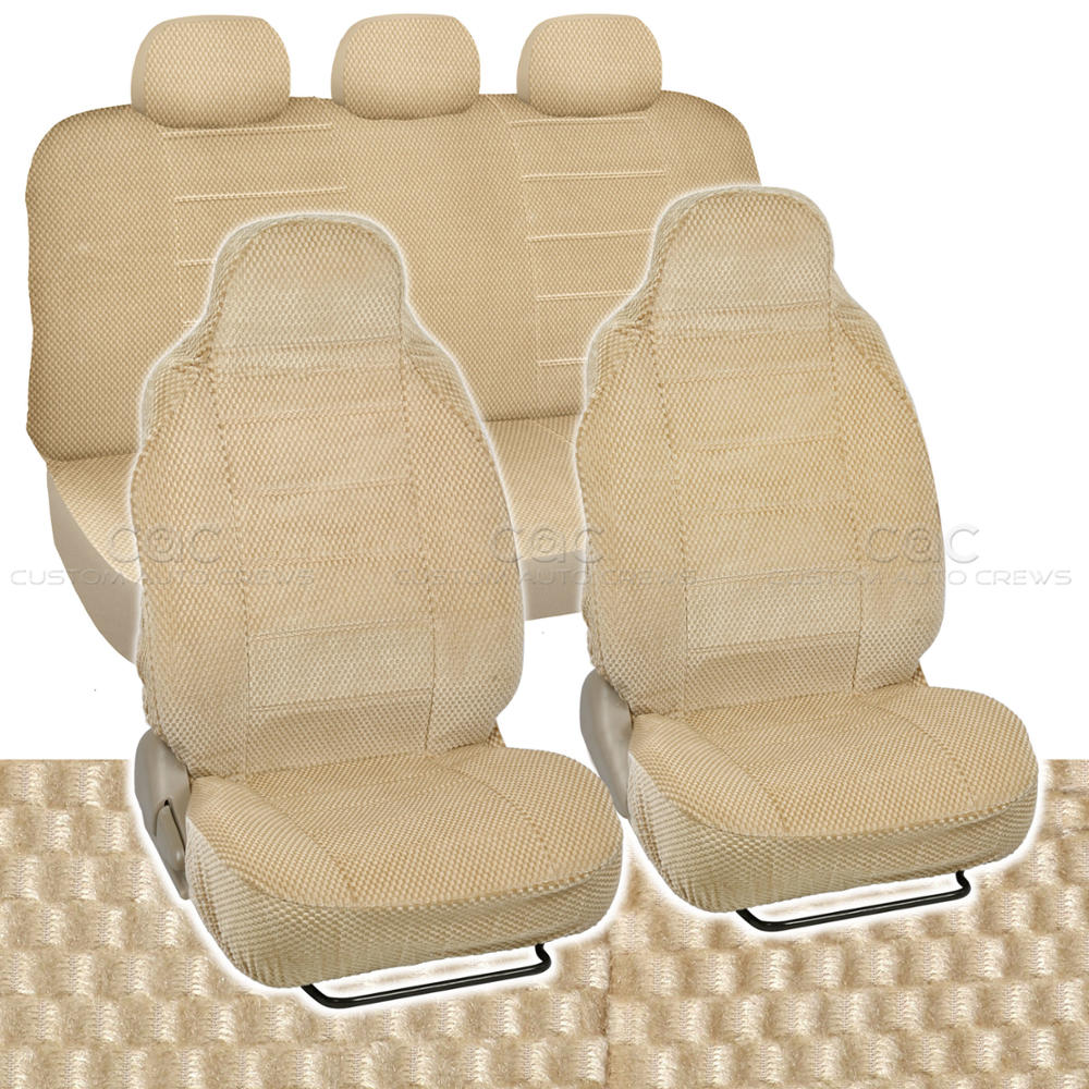 Car Seat Covers Beige Auto Accessories Padded Scottsdale