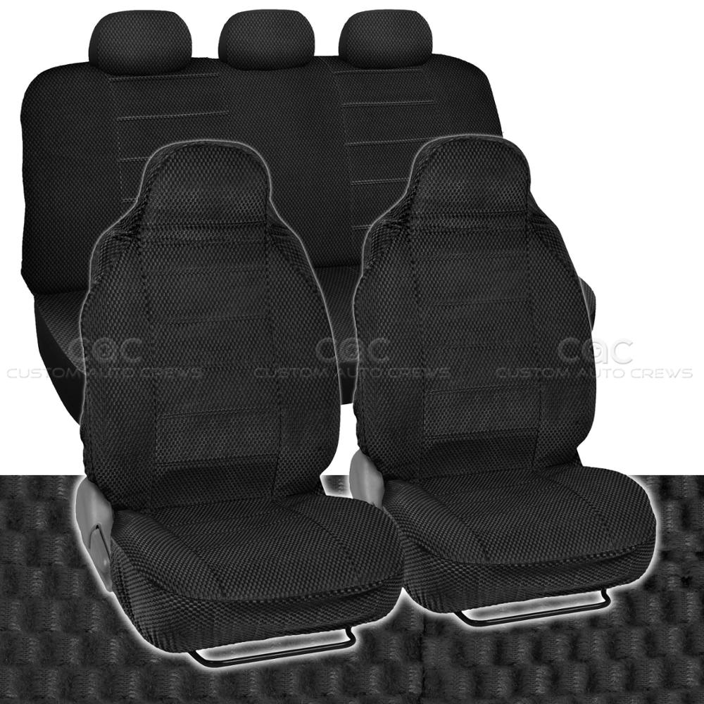 Car Seat Covers Black Auto Accessories Padded Scottsdale Cloth
