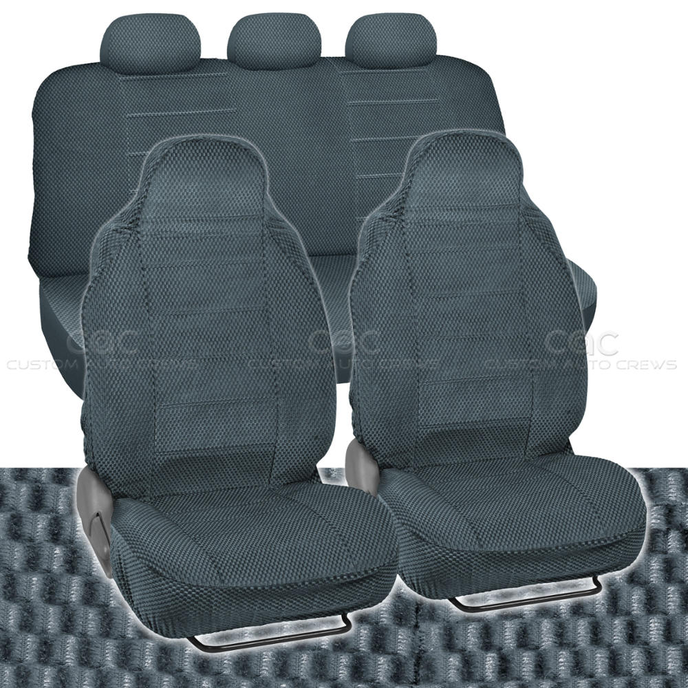 Car Seat Covers Charcoal Auto Accessories Padded
