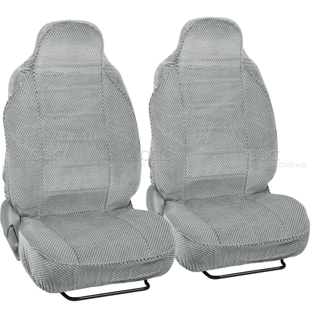 Car Seat Covers Gray Auto Accessories Padded Scottsdale Cloth