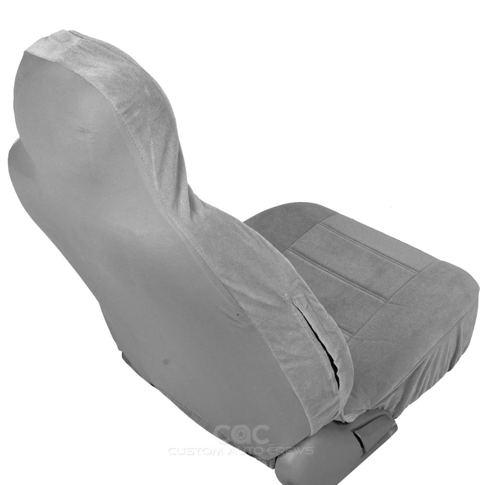 Gray Front Seat Covers Set High Back Bucket Full Cover