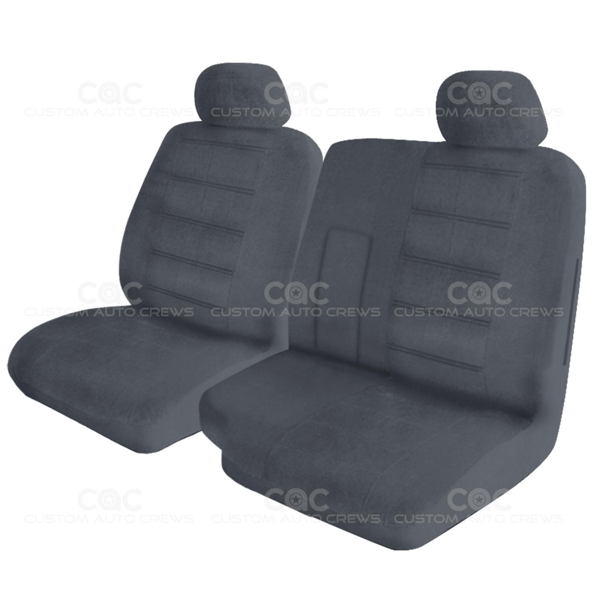Very Impressive portraiture of Details about Pickup 60/40 Split Bench Premium Regal Custom Seat Cover  with #41454E color and 1200x1200 pixels