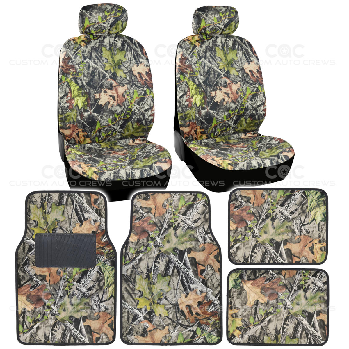 4pc Camo Car Seat Cover Amp 4pc Camo Microfiber Floor Mats