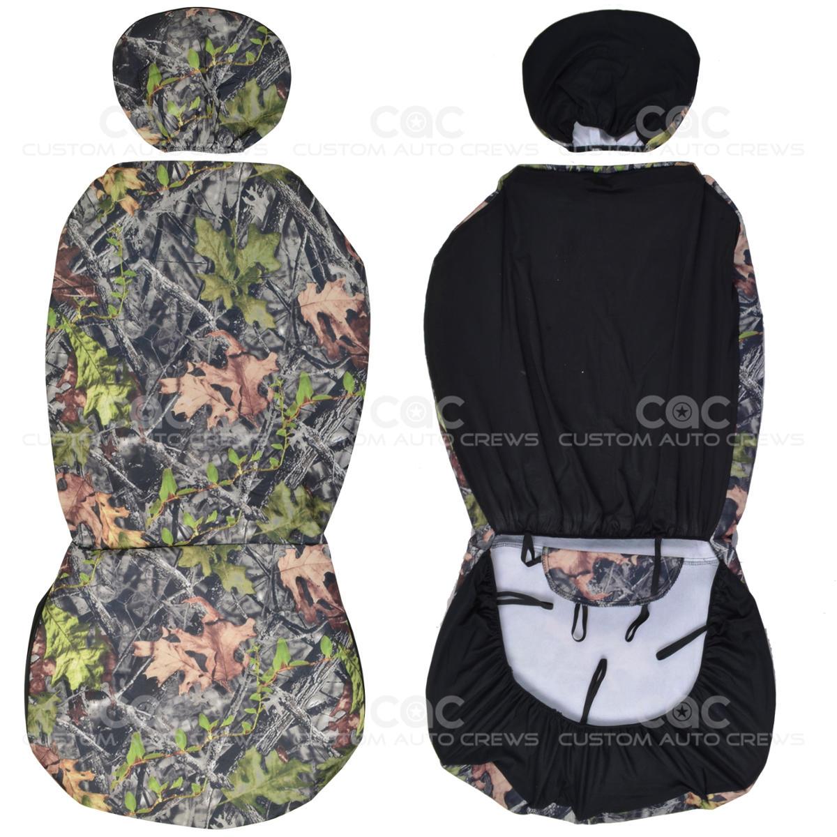 4 Pc Camo Car Seat Cover And 4 Pc Camo Carpet Floor Mats