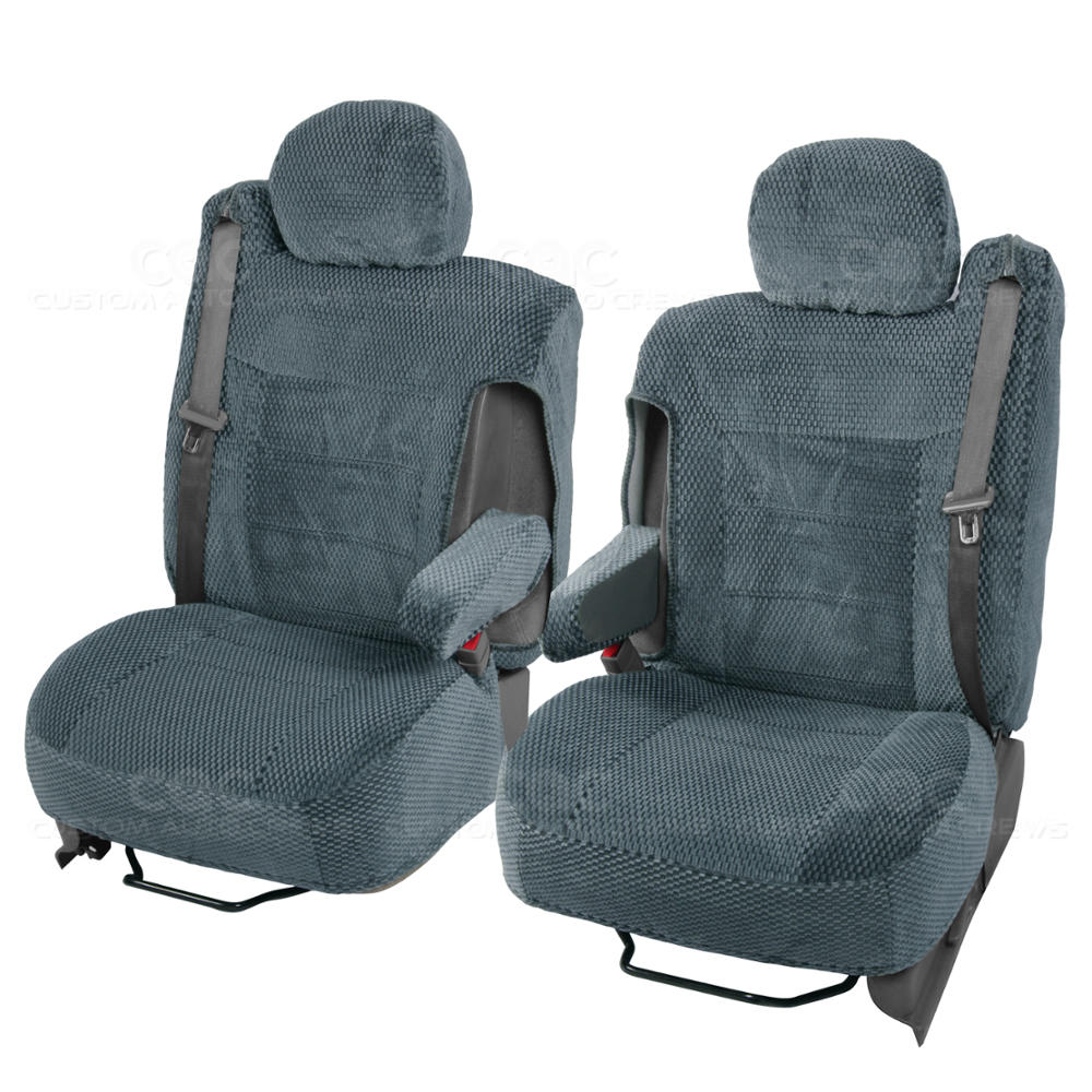 Truck Seat Covers Pair Charcoal Scottsdale For Chevy Tahoe