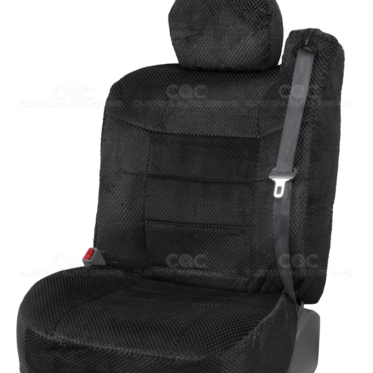 Truck Seat Covers Front Pair Black Scottsdale Built In