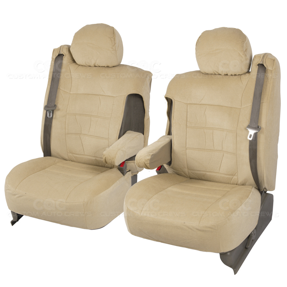Truck Seat Covers Front Pair Tan Encore Cloth Armrest
