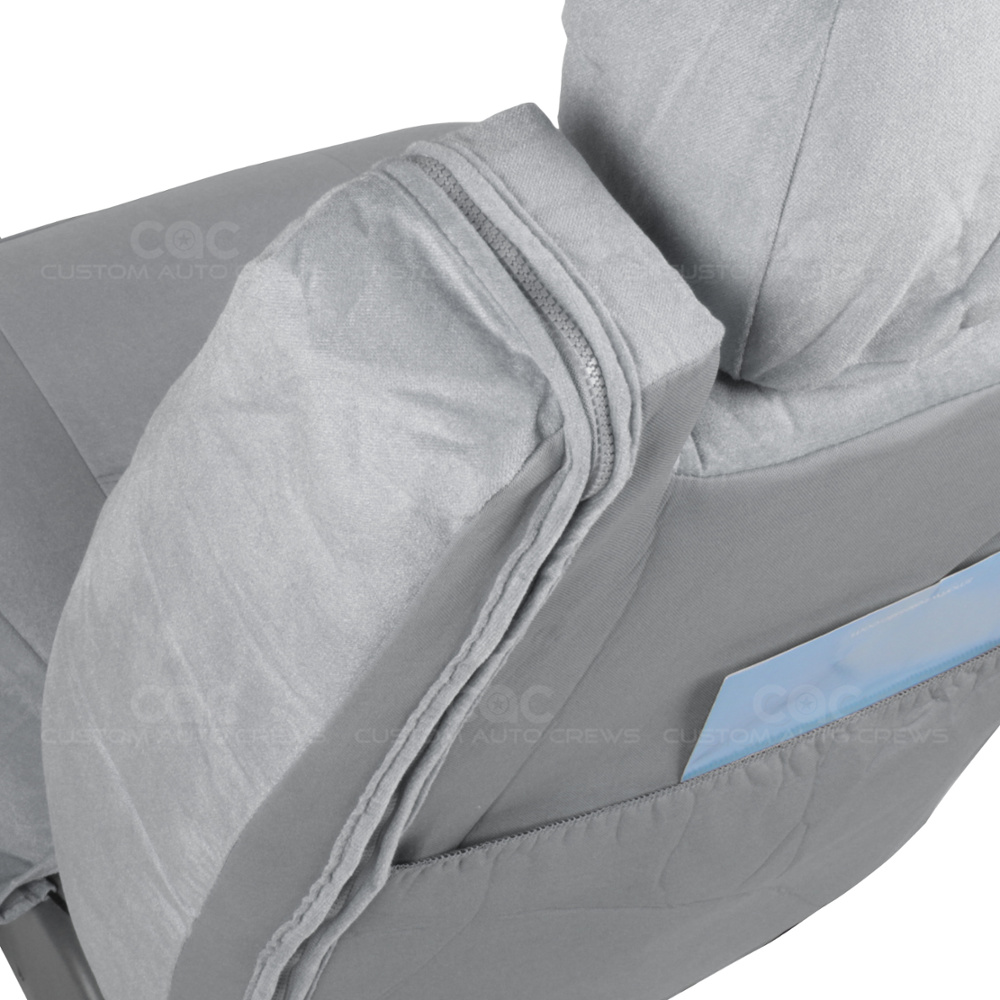 Truck Seat Covers Front Pair Gray Encore Built In Seat