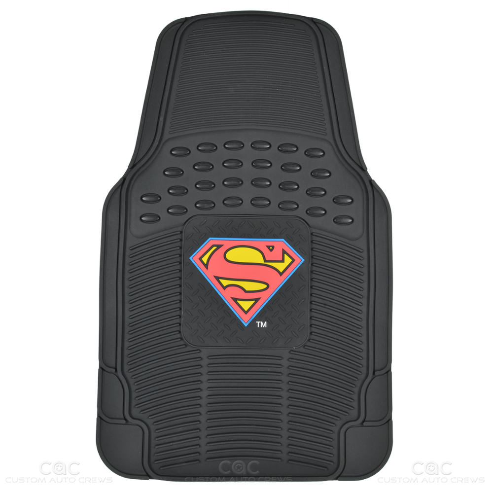 Superman Seat Covers Amp 2 Pc Rubber Floor Mats For Car