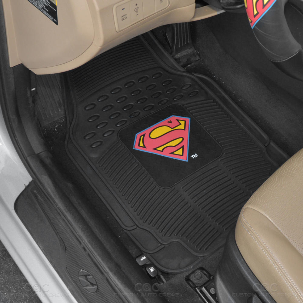 Superman Seat Covers Amp 4PC Rubber Floor Mats