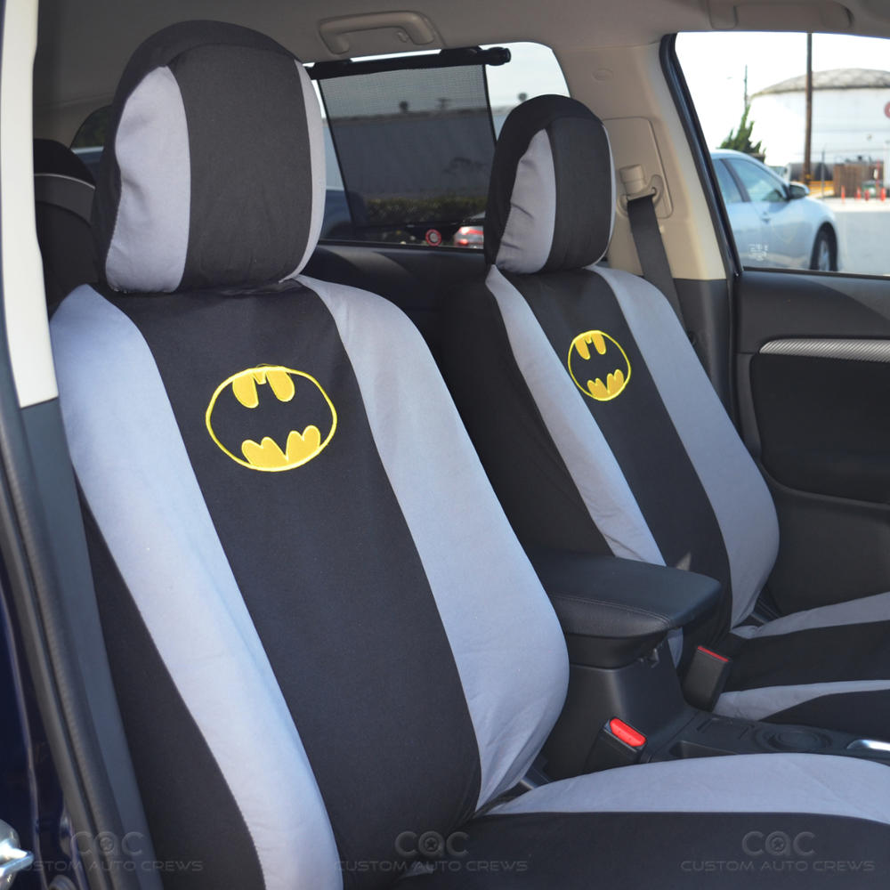 officially licensed batman seat cover car floor mat full front rear set ebay. Black Bedroom Furniture Sets. Home Design Ideas