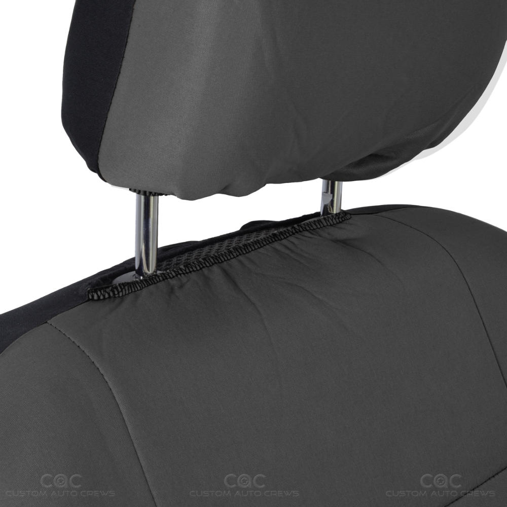 Solid Charcoal Gray Car Seat Covers Full Interior Set